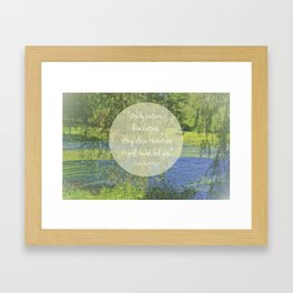 Inspired By Nature   Bird Park Framed Art Print