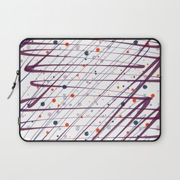 Maroon Splatter Pattern Laptop Sleeve