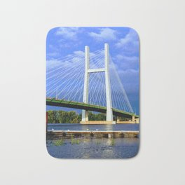 Bridge in Burlington, Iowa Bath Mat