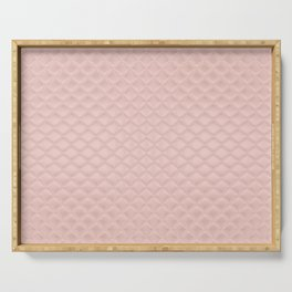 Quilted Peach Texture Pattern Serving Tray