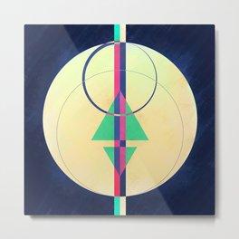 Abstract Geometry Moon Metal Print