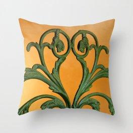 Green Iron Gate 1 Throw Pillow