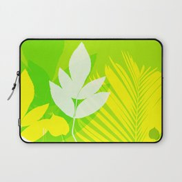Jungle neon green Leaves Palm Yellow Laptop Sleeve