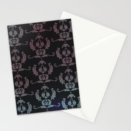 Damask Print Stationery Cards