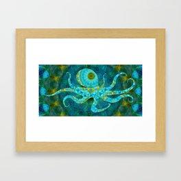 Beachy Art - Mandala Octopus - Sharon Cummings Framed Art Print