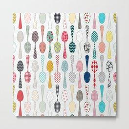 Quilt Spoons Metal Print