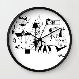 Joan Miro The Family 1924 Artwork T Shirt, Art Reproduction Wall Clock