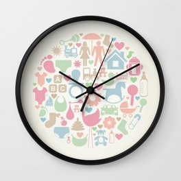 Baby a sphere Wall Clock
