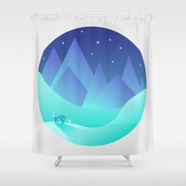 Night Fox Shower Curtain