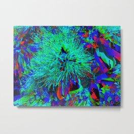 """Kiwi Lifestyle"" - Pohutukawa NZ Blue Bloom- Pop ART Metal Print"