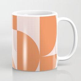 Mid Century Design in Burnt Orange and Blush Coffee Mug