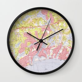 Dennis and Yarmouth Massachusetts Map (1974) Wall Clock