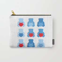 Cute blue Love teddies Carry-All Pouch