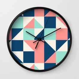 colorful triangle Wall Clock