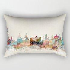 liverpool england skyline Rectangular Pillow