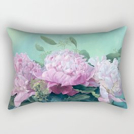 Pink Peonies The Three Sisters Floral Rectangular Pillow