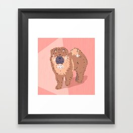 City Dogs: Chow Chow Framed Art Print