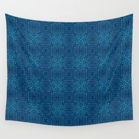knit Wall Tapestries featuring Knit Reflection by Katie Troisi
