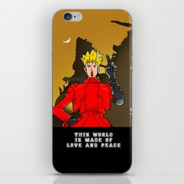 This World is Made of Love and Peace with Background iPhone Skin