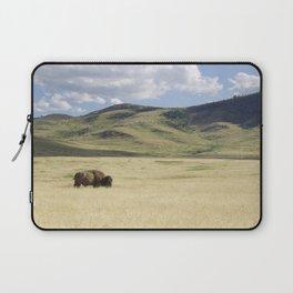 Alone Time - Bison on Range Laptop Sleeve
