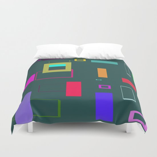 Squares and Rectangles Duvet Cover
