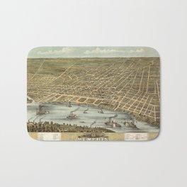 Map of Memphis 1870 Bath Mat