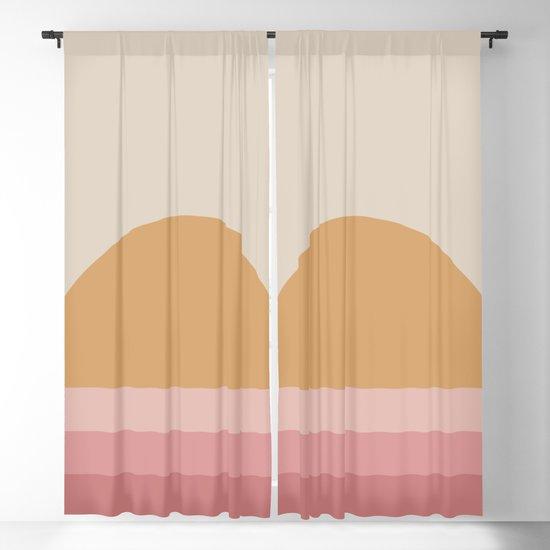 Minimal Retro Sunset / Sunrise - Warm Pink by midcenturymodern