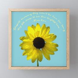 Brightest Lives Framed Mini Art Print