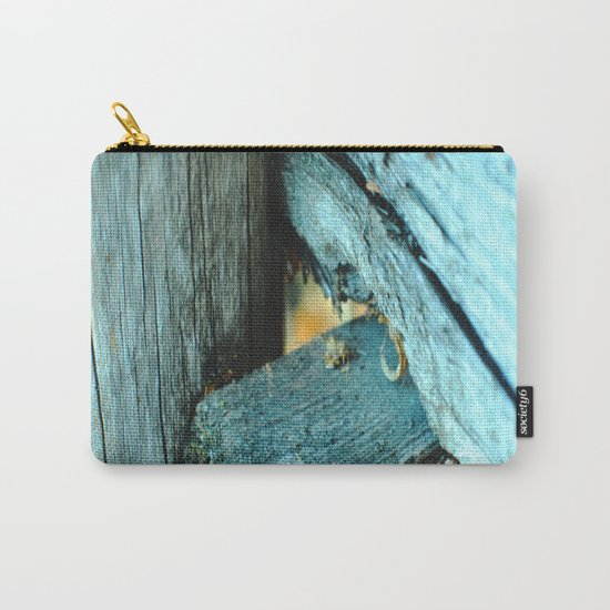 Wood Triangle Carry-All Pouch