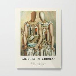 Poster-Giorgio de Chirico-Oreste and pilade. Metal Print