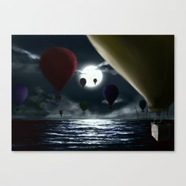 Crossing the ocean. Canvas Print