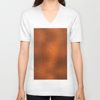 gold foil V-neck T-shirts featuring Gold Foil Texture 4 by Robin Curtiss