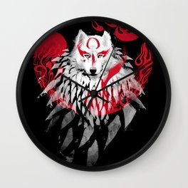 Wolf II Wall Clock