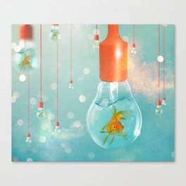 Ideas and Goldfish ... Canvas Print