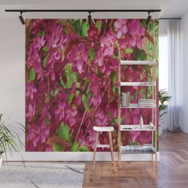 PINK CRABAPPLE SPRING MODERN ART Wall Mural