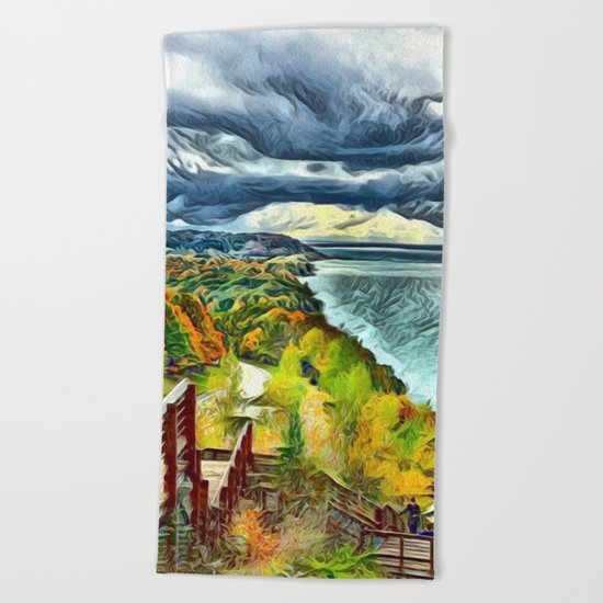 Stairs to Paradise (Water and Landscape) Beach Towel