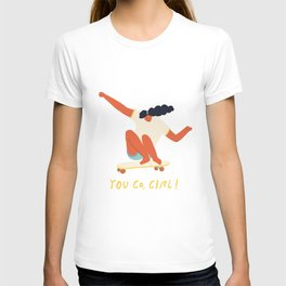 You go girl print T-shirt
