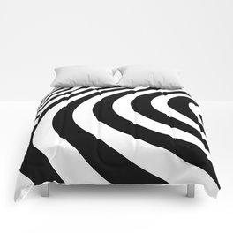 Black and White Minimal 3D Circle Comforters