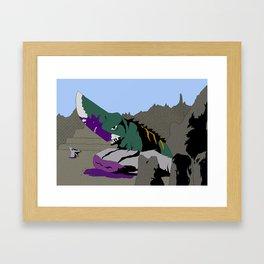 Gamera vs. Guiron Framed Art Print