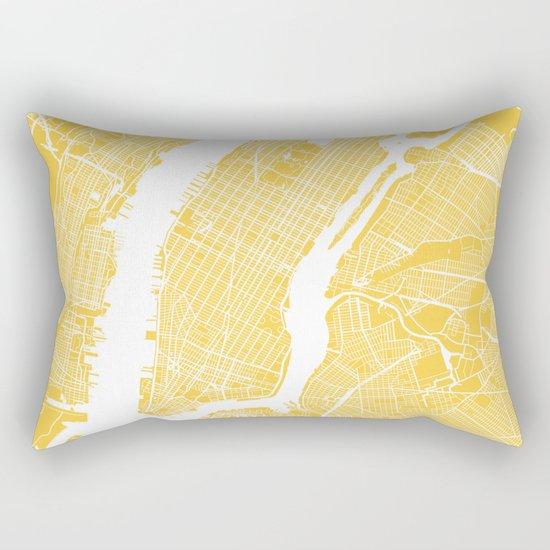 Manhattan map yellow Rectangular Pillow