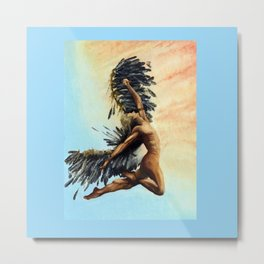 Season of the Legend - Icarus Descending Metal Print
