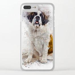 St Bernard Clear iPhone Case