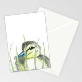 Peekaboo Baby Duck Stationery Cards