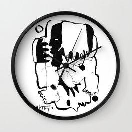 Everlasting Fight - b&w Wall Clock