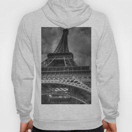 Black And White Eiffel Tower Hoody