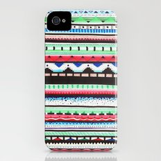 Pattern Doodle Three Slim Case iPhone (4, 4s)
