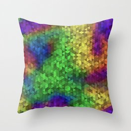 Equilateral Tie Dye Throw Pillow
