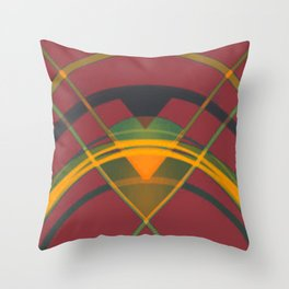 Geometry in Red Throw Pillow