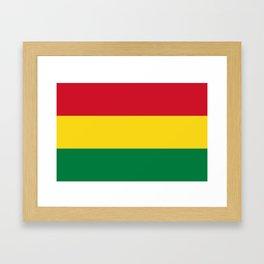 Flag of bolivia-bolivian,spanish,america,south america,latin america,coffee,Santa cruz,Sucre,La paz Framed Art Print