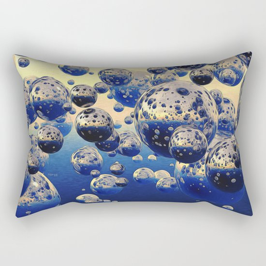 Cluster of Bubbles Rectangular Pillow